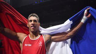 Le boxeur français Tony Yoka, le 21 août 2016 aux Jeux olympiques de Rio. (YURI CORTEZ / AFP)