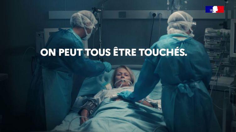 Capture d'écran du clip diffusé par le ministère des Solidarités et de la Santé. (MINISTERE DES SOLIDARITES ET DE LA SANTE)