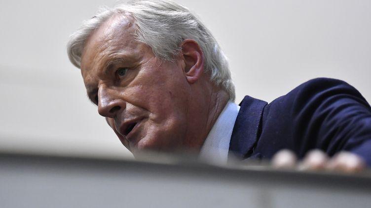 Michel Barnier, le 29 janvier 2020, à Bruxelles. (JOHN THYS / AFP)