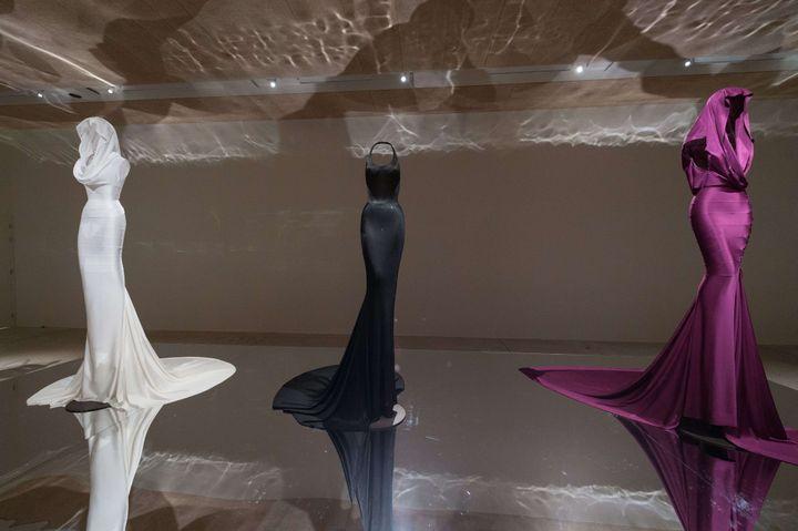 Expo Azzedine Alaïa au Design Museum de Londres, mai 2018.  (Ray Tang/Shutterstock/SIPA)