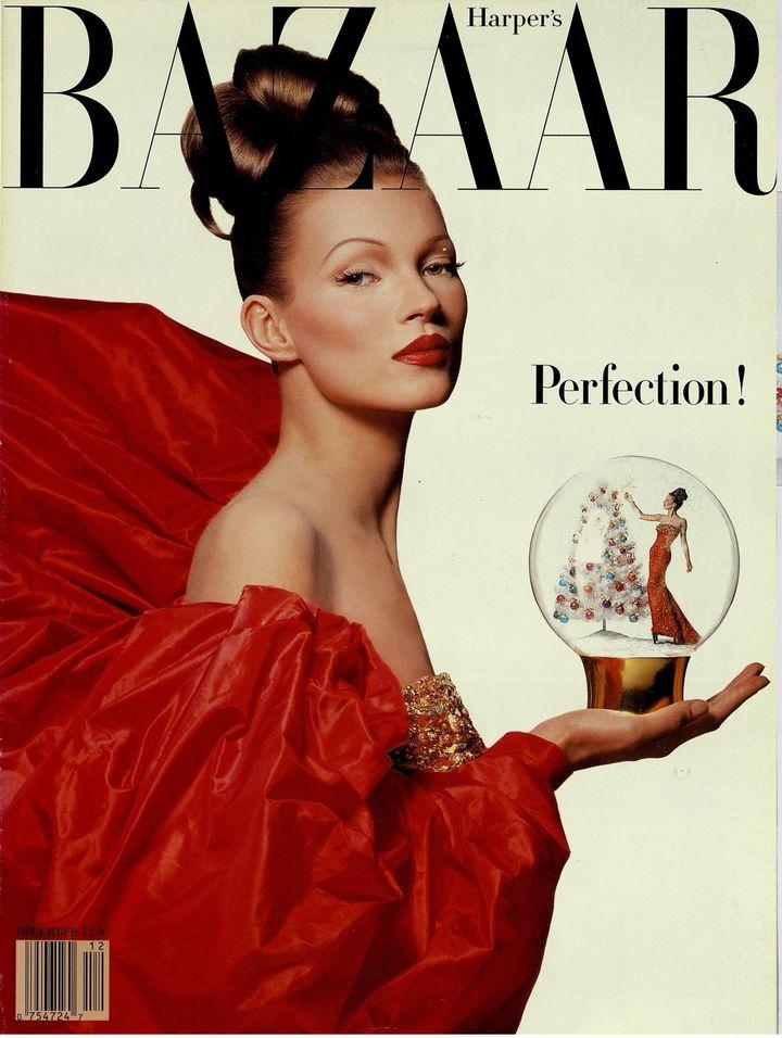 """Exposition """"Harper's Bazaar.Premier magazine de mode""""au MAD jusqu'au 14 juillet 2020.Couverture décembre 1992 avec Kate Moss (Patrick Demarchelier)"""