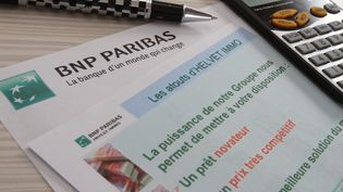 Un document BNP Paribas Helvet Immo.  (MAXPPP)