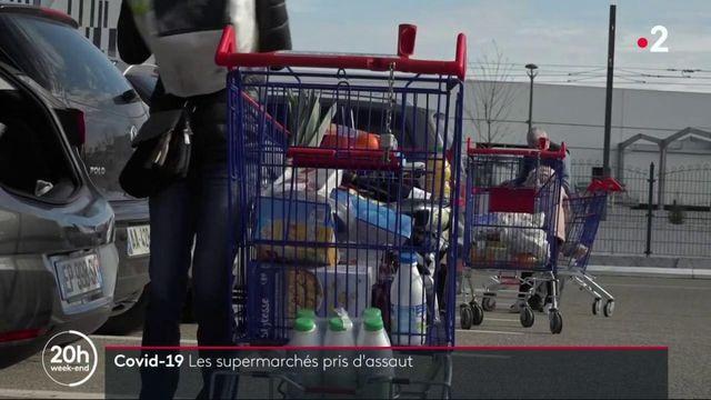 Coronavirus : les supermarchés pris d'assaut