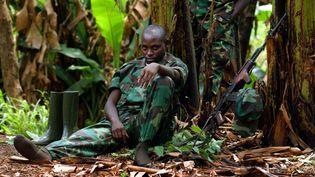 Le 27 septembre 2002,l'armée rwandaise commence à se retirer de la région du Kivu, en République démocratique du Congo. (MARCO LONGARI / AFP)