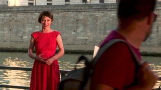 Amelia Feuer - Concert sur les bords de Seine. Août 2020. Paris (M. Brugnière /  France Télévisions)