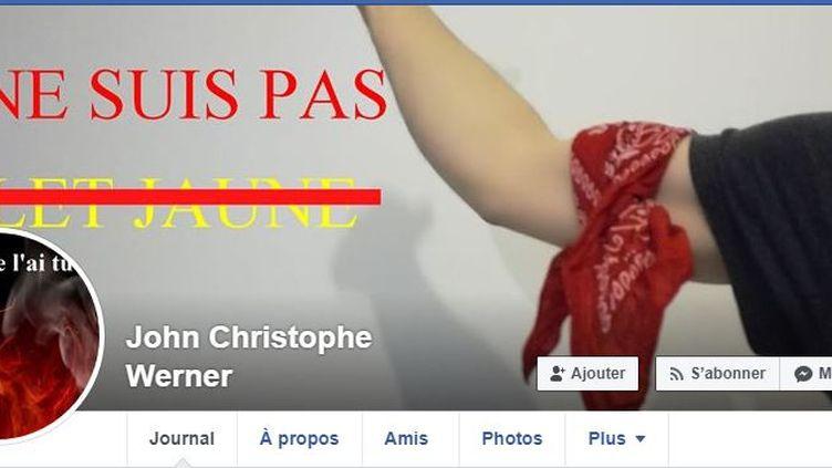 """Capture d'écran de la page Facebook des """"foulards rouges"""", le 30novembre 2018. (FACEBOOK / FRANCEINFO)"""