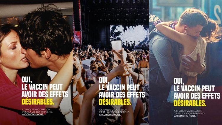 Trois affiches de la campagne de communication de l'agence régionale de santé de Provence-Alpes-Côte d'Azur. (ARS PACA)