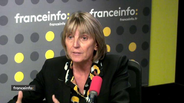 Valérie Létard, sénatrice Union centriste (UC) du Nord et vice-présidente du Sénat, le 23 octobre 2018 sur franceinfo. (FRANCEINFO / RADIOFRANCE)