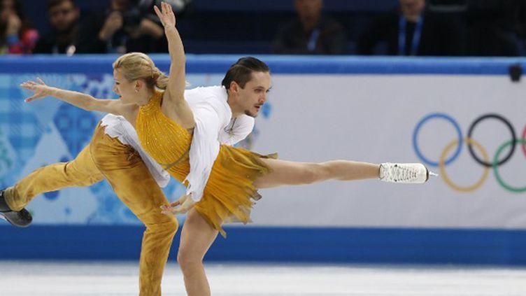 Tatiana Volosozhar et Maxim Trankov ont surclassé tout le monde. (ADRIAN DENNIS / AFP)