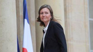 La députée LREM Yaël Braun-Pivet à l'Elysée à Paris, le 29 juuin 2020 à l'occasion de la réunion entre Emmanuel Macron et les 150 membres de la Convention Citoyenne pour le Climat. (LUDOVIC MARIN / AFP)