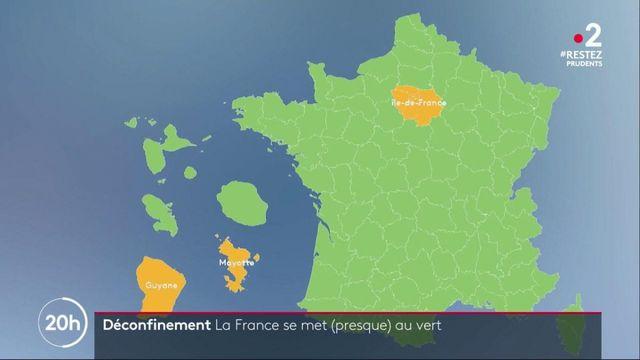 Déconfinement : la France passe majoritairement en vert