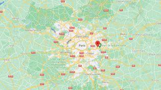 Une vidéo montrant un policier en train de frapper un homme au sol lors de son interpellation à Noisy-le-Grand (Seine-Saint-Denis) le 17 septembre 2021 a été diffusée sur les réseaux sociaux. (GOOGLE MAPS / FRANCEINFO)