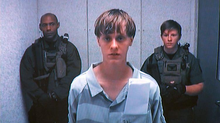Dylann Roof, l'auteur présumé de la tuerie de Charleston (Caroline du Sud, Etats-Unis), lors de son audition au tribunal, le 16 juin 2015. (  REUTERS)