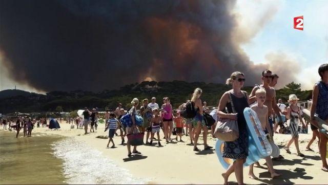 Bormes-les-Mimosas : les campings évacués, les vacanciers s'organisent