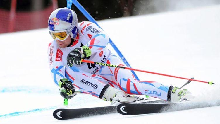 (Alexis Pinturault pendant la première manche du slalom géant de Hinterstoder © maxPPP)