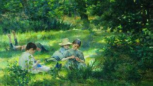 Enfants dans l'herbe - Ivana Kobilca (1861 -1926)  (Galerie natiobale, Ljubljiana)