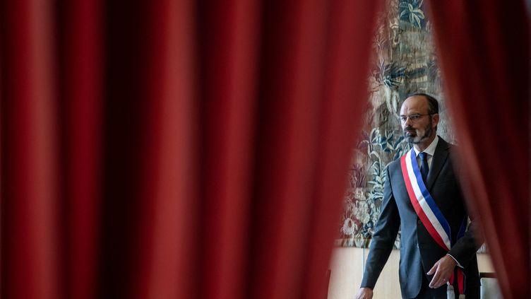 Edouard Philippe célèbre un mariage au Havre (Seine-Maritime) durant la campagne municipale, le 20 juin 2020. (CHRISTOPHE PETIT TESSON / POOL / MAXPPP)