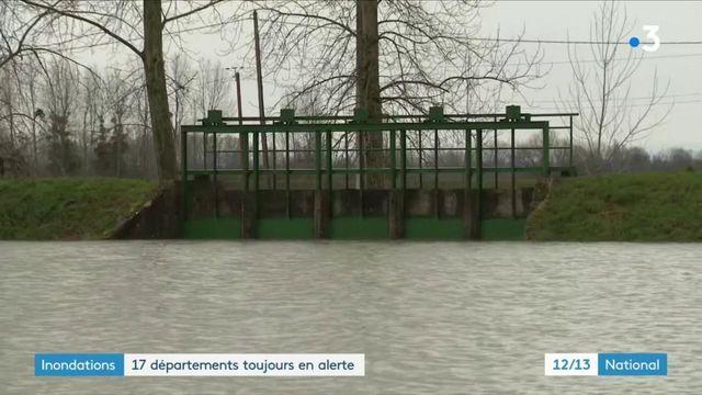 Inondations : de nombreux départements toujours en alerte