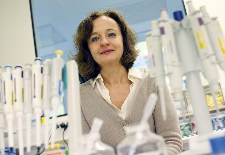 La chercheuse Marina Cavazzana-Calvo, le 11 février 2013 à l'hôpital Necker, à Paris. (PATRICK KOVARIK / AFP)