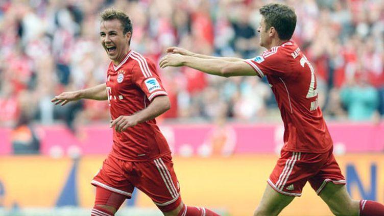 L'attaquent du Bayern Mario Goetze (à gauche)
