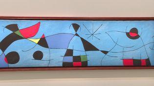 L'une des 64 oeuvres de l'exposition Miró organisée par le Nouveau musée national de Monaco. (France Télévisions)