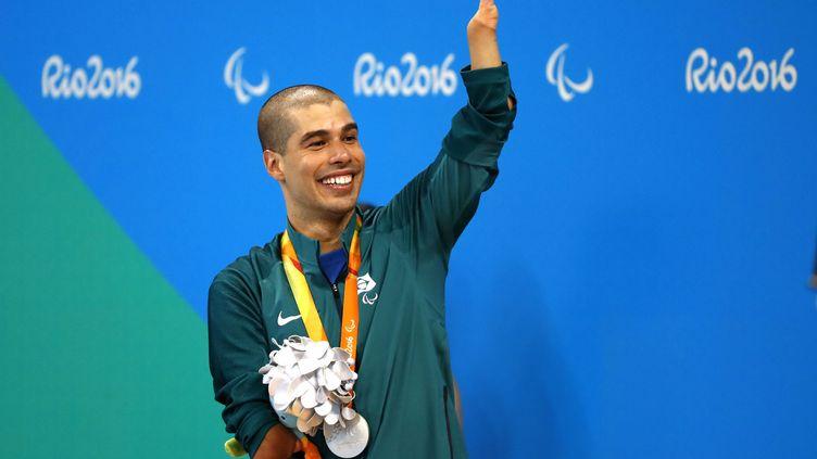 Le nageur Brésilien Daniel Dias, symbole du succès de ces Jeux Paralympiques de Rio (FABIO MOTTA / ESTAD?O CONTE?DO)