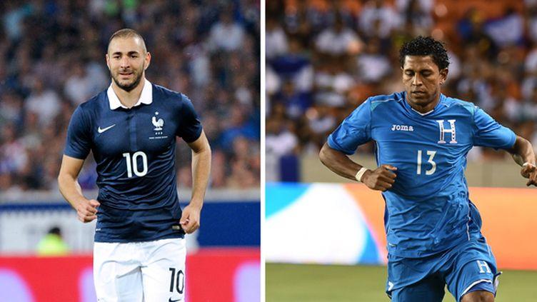 Karim Benzema et Carlo Costly (JEWEL SAMAD / AFP)