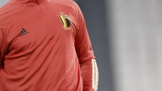 Le gardien de but de la Belgique, Thibaut Courtois, à l'entraînement le 6 octobre 2021. (BRUNO FAHY / BELGA MAG)