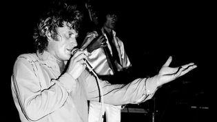 Johnny Hallyday en concert à Montpellier en 1979.  (Richard De Hullesen / Le Midi Libre / MaxPPP)