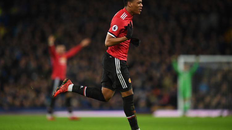 Anthony Martial a ouvert le score face à Everton (PAUL ELLIS / AFP)