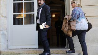 Le secrétaire général de la CGT, Philippe Martinez, arrive à Matignon, le 18 décembre 2019. (THOMAS SAMSON / AFP)