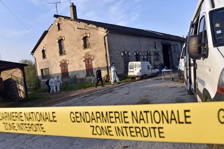 La maison d'Eric F., suspecté d'avoir enlevé la petite Berenyss le 23 avril 2015, et interpellé à son domicile de Montzéville (Meuse), le 28 avril. (MAXPPP)