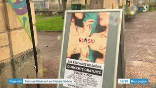 Le festival Les estivales de Saône (France 3 Bourgogne Franche-Comté)