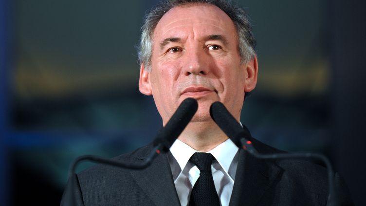 François Bayrou, président du MoDem, à Pau (Pyrénées-Atlantiques), le 9 janvier 2015. (IROZ GAIZKA / AFP)