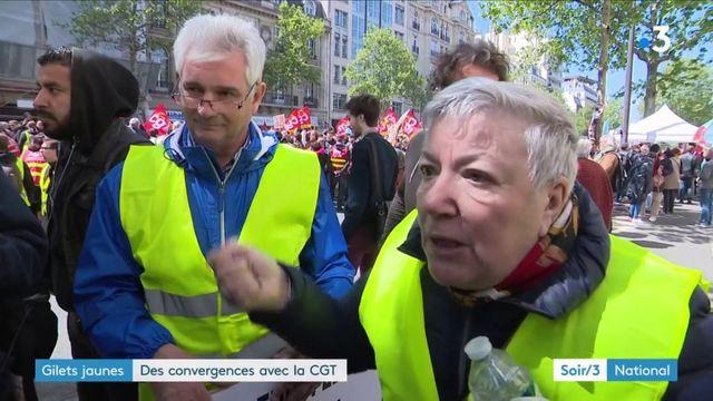 """""""Gilets jaunes"""" : des convergences avec des syndicats et des partis de gauche"""