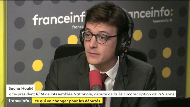 Sacha Houlié, vice-président REM de l'Assemblée nationale, député de la deuxième circonscription de la Vienne, le 3 août 2017. (FRANCEINFO)