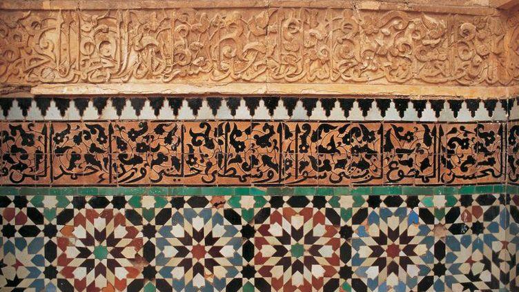 Azulèges (carrelage en céramique d'origine arabe) de Marrakech (FRUMM John / hemis.fr)