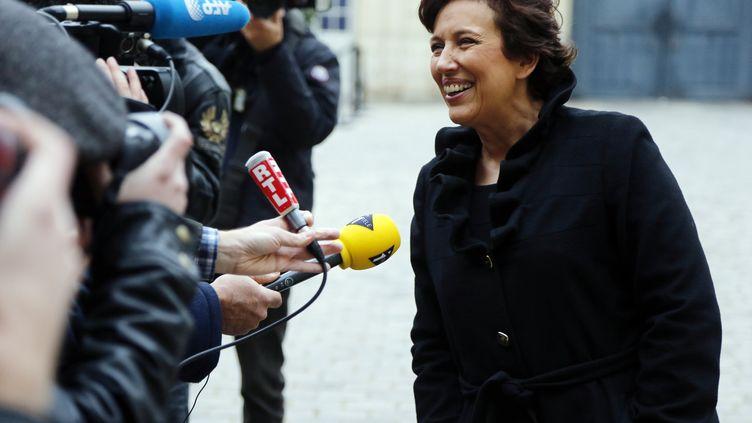 Roselyne Bachelot, l'ancienne ministre de la Santé devenue chroniqueuse télé, le 8 janvier 2013 à Paris. (PIERRE VERDY / AFP)
