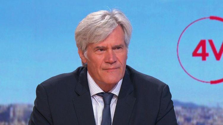 """Stéphane Le Foll, maire du Mans (Sarthe) était l'invité des """"4 Vérités"""" de France 2, mercredi 25 août. (CAPTURE ECRAN FRANCE 2)"""