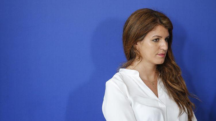 La secrétaire d'État chargée de l'Égalitéentre les femmes et les hommes,Marlène Schiappa, à Paris, le 9 mai 2018. (MAXPPP)