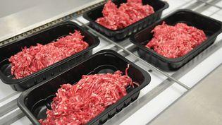 Barquettes de viande de boeuf. Image d'illustration. (MAXPPP)