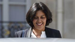 Myriam El Khomri sortant de l'Elysée après sa nomination comme ministre du Travail, le2 septembre 2015, à Paris. (ALAIN JOCARD / AFP)