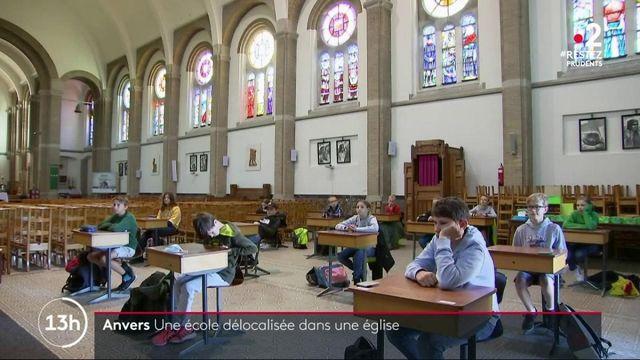 Coronavirus : en Belgique, une église est devenue l'annexe d'une école