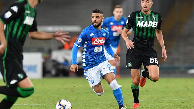 Insigne lors de la victoire contre Sassuolo. (ANDREAS SOLARO / AFP)