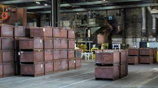 Une usine vide en raison du chômage partiel, à Mulhouse (Haut-Rhin). Photo d'illustration. (VINCENT VOEGTLIN / MAXPPP)