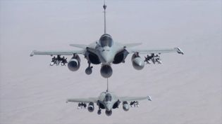 Des avions de combat Rafale en mission en Irak, le 19 septembre 2014. (JEAN-LUC BRUNET / ECPAD / AFP)