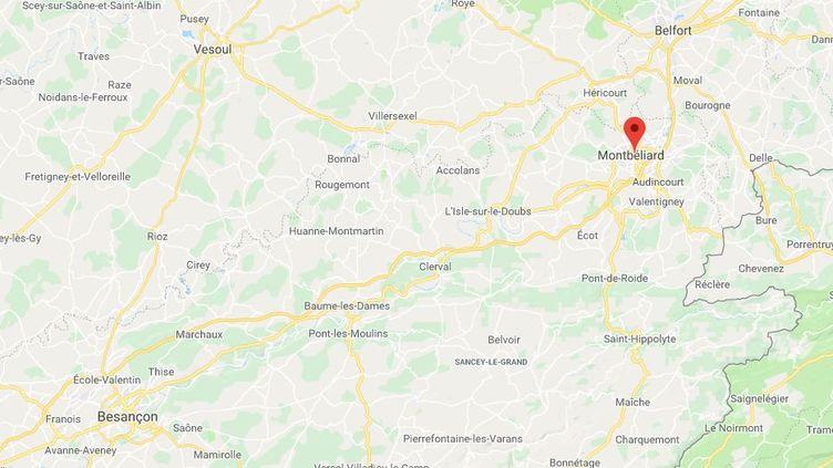 Un jeune homme de 16 ans a été blessé à la tête, à Montbéliard (Doubs) vendredi 7 décembre lors d'affrontements entre lycéens et forces de l'ordre (GOOGLE MAPS)