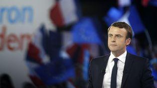 Au premier rang du meeting d'Emmanuel Macron, Ségolène Royal, venue en invitée surprise. (GEOFFROY VAN DER HASSELT / AFP)
