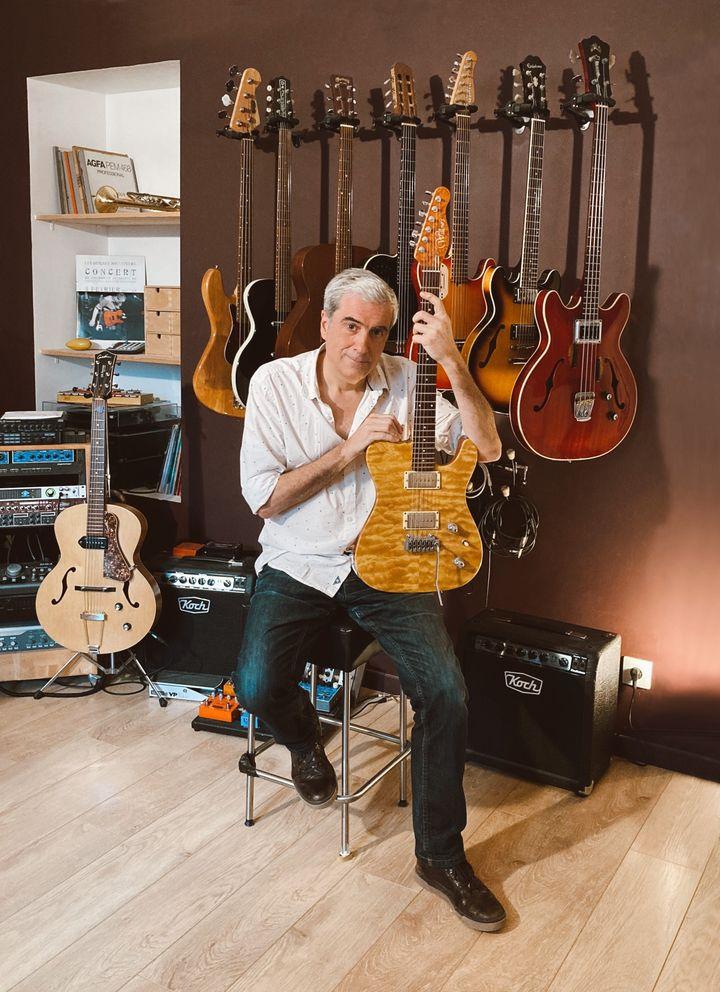 Pierrejean Gaucher dans son studio (photo Benoit Renard)