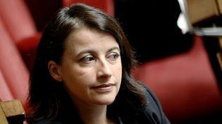 La députée écologiste Cécile Duflot à l'Assemblée nationale, le 8 octobre 2014. (STEPHANE DE SAKUTIN / AFP)